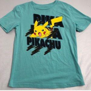 Pokémon aqua/yellow Picachu t-shirt
